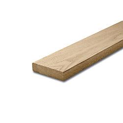 Alexandria Moulding Oak Modern Handrail 1-1/16 Inches x 4-1/2 Inches x 8 Feet