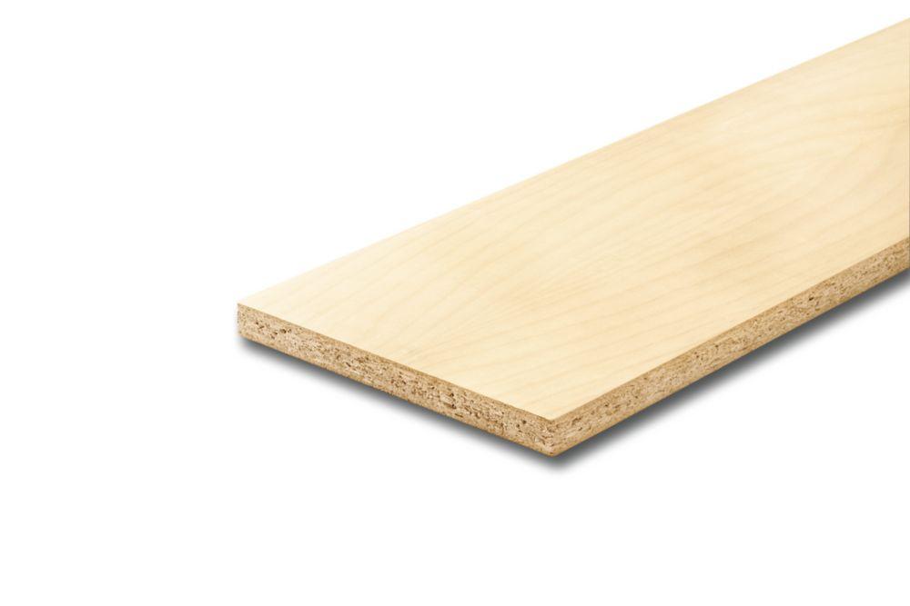 Plate-forme surélevée plaquée érable 3/4 x 7 1/2