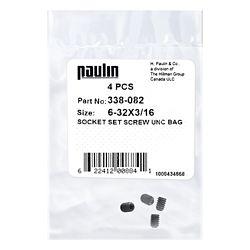 Paulin 6/32X3/16 Sock Set Screw Unc Bag 4Pc