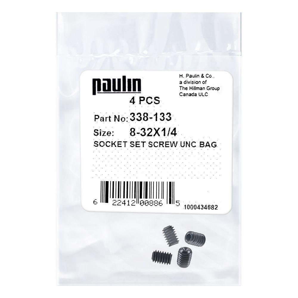 8/32X1/4 Socket Set Screw Unc Bag 4P