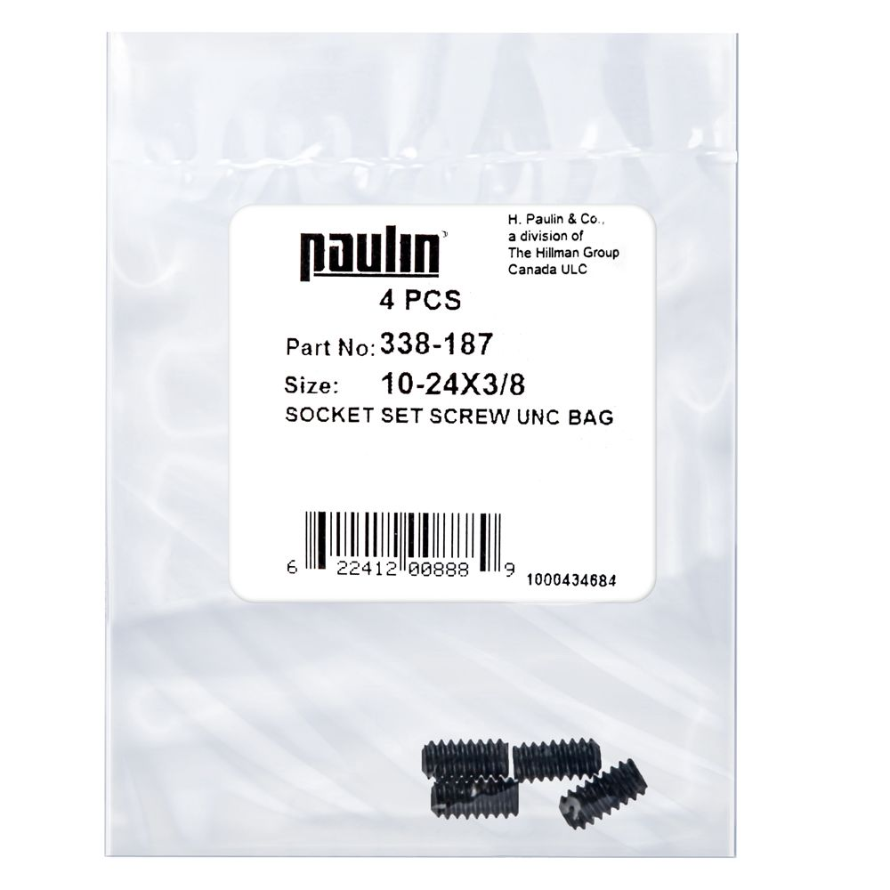 10-24X3/8 Socket Set Screw Unc Bag 4