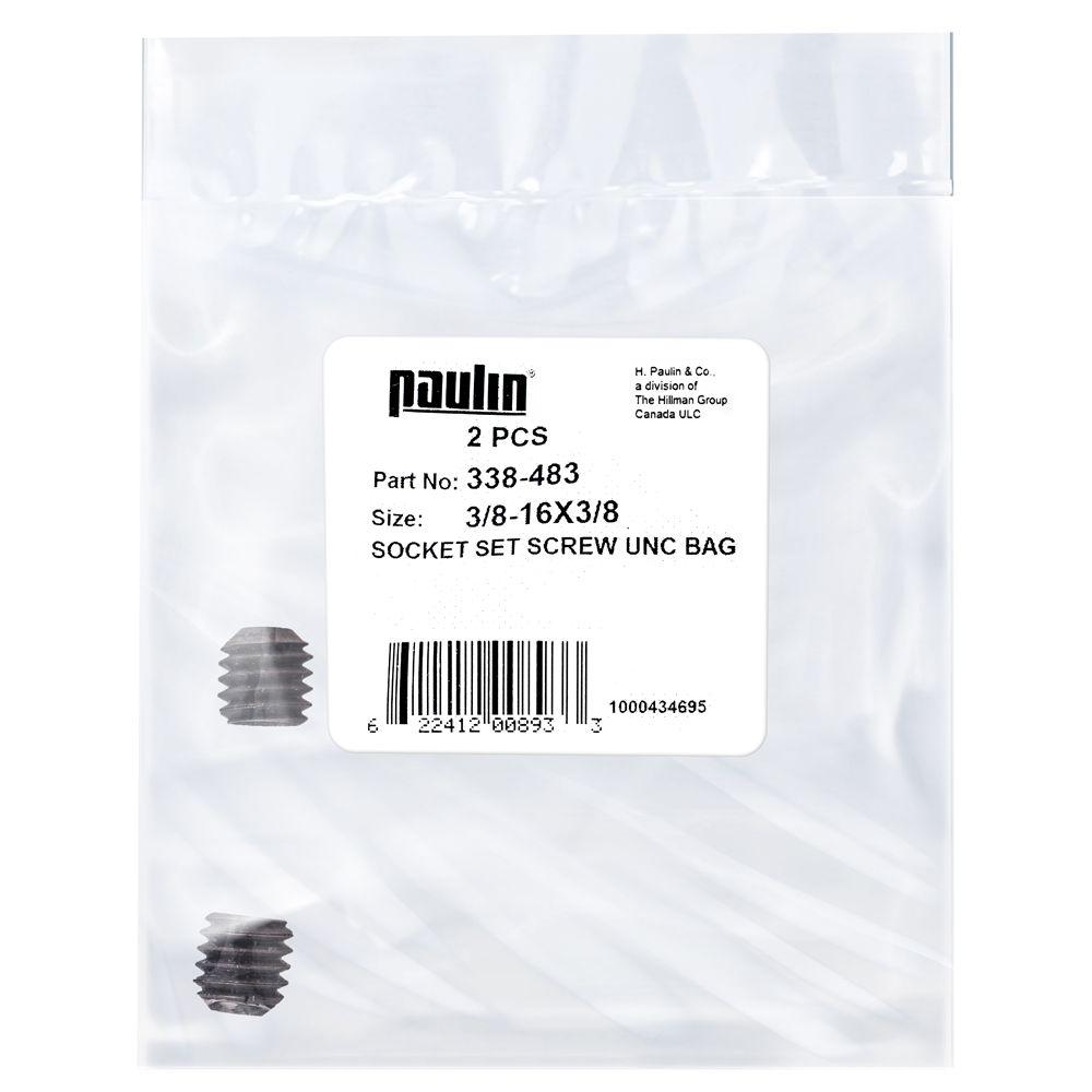 3/8X3/8 Socket Set Screw Unc Bag 2Pc
