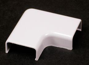 Plastic CordMate II Flat Elbow White