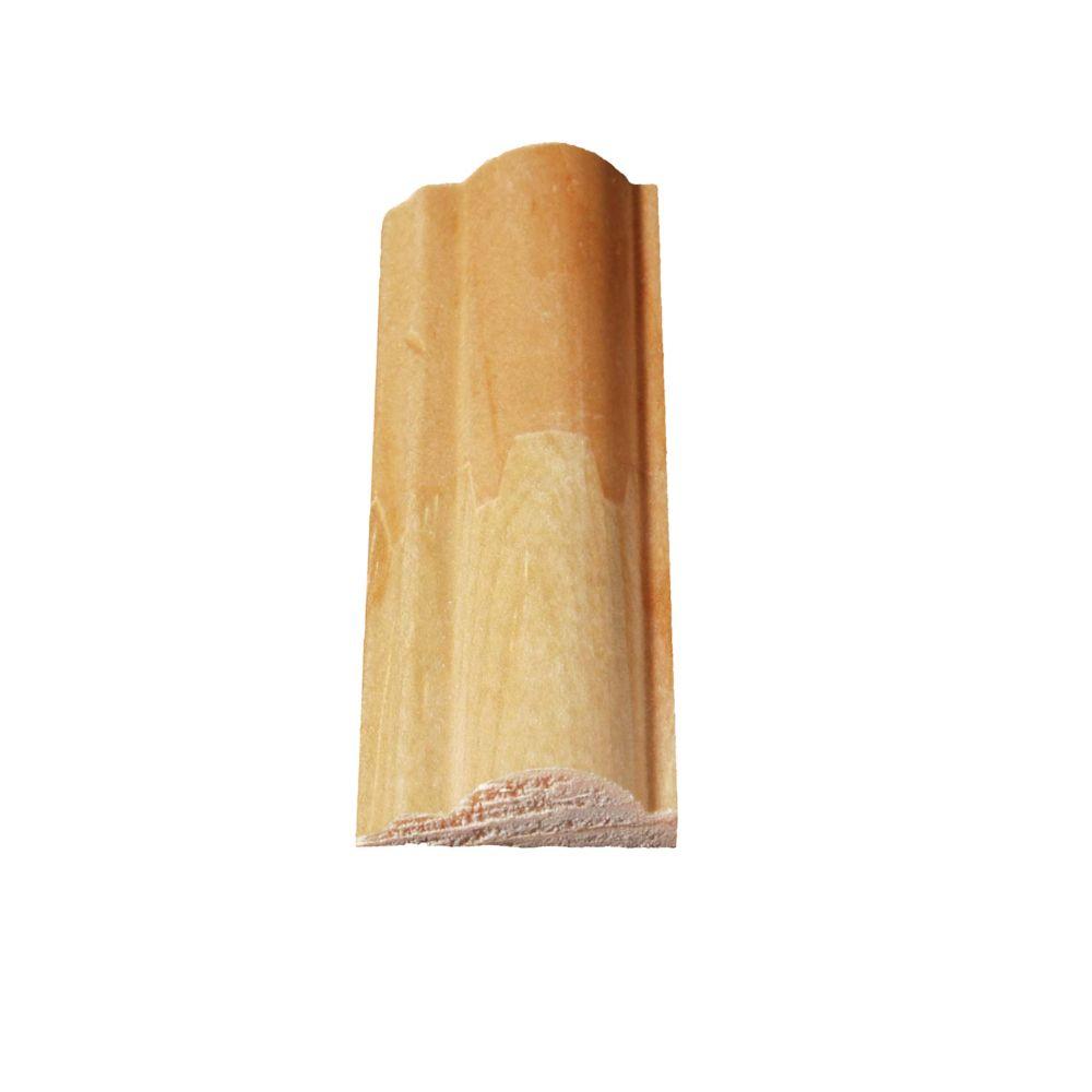 Moulure décorative jointée, en pin  5/16 x 7/8