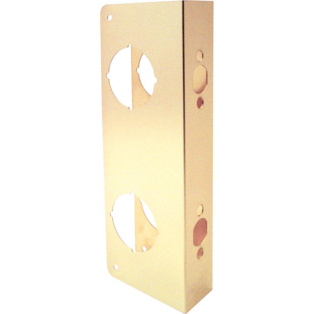 9-inch Brass Door Reinforcer Combo