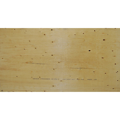 3/4 inch 4 ftx8 ft Select Spruce Plywood