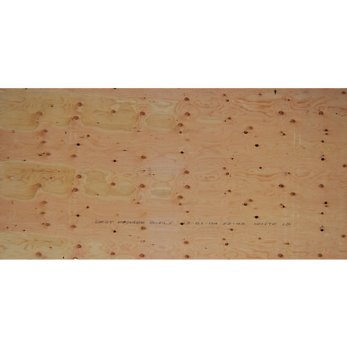 5/8 inch 4 ftx8 ft Select Fir Plywood Tongue & Groove