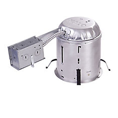 Remodel Housing for Insulated Ceilings 6Inch Aperture