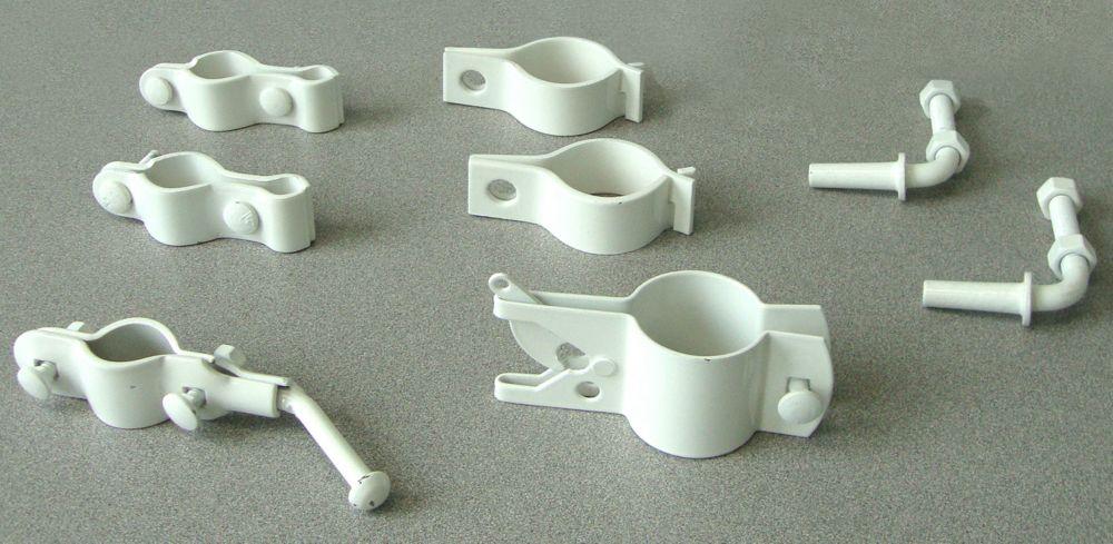 Accessoires pour Installation de Barrière simple Blanc      1-7/8 pi