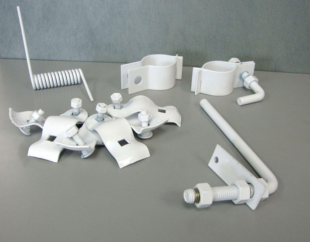 Accessoires pour Installation de Barrière Simple et Ressort pour Fermeture Automatique Blanc 1-7/...