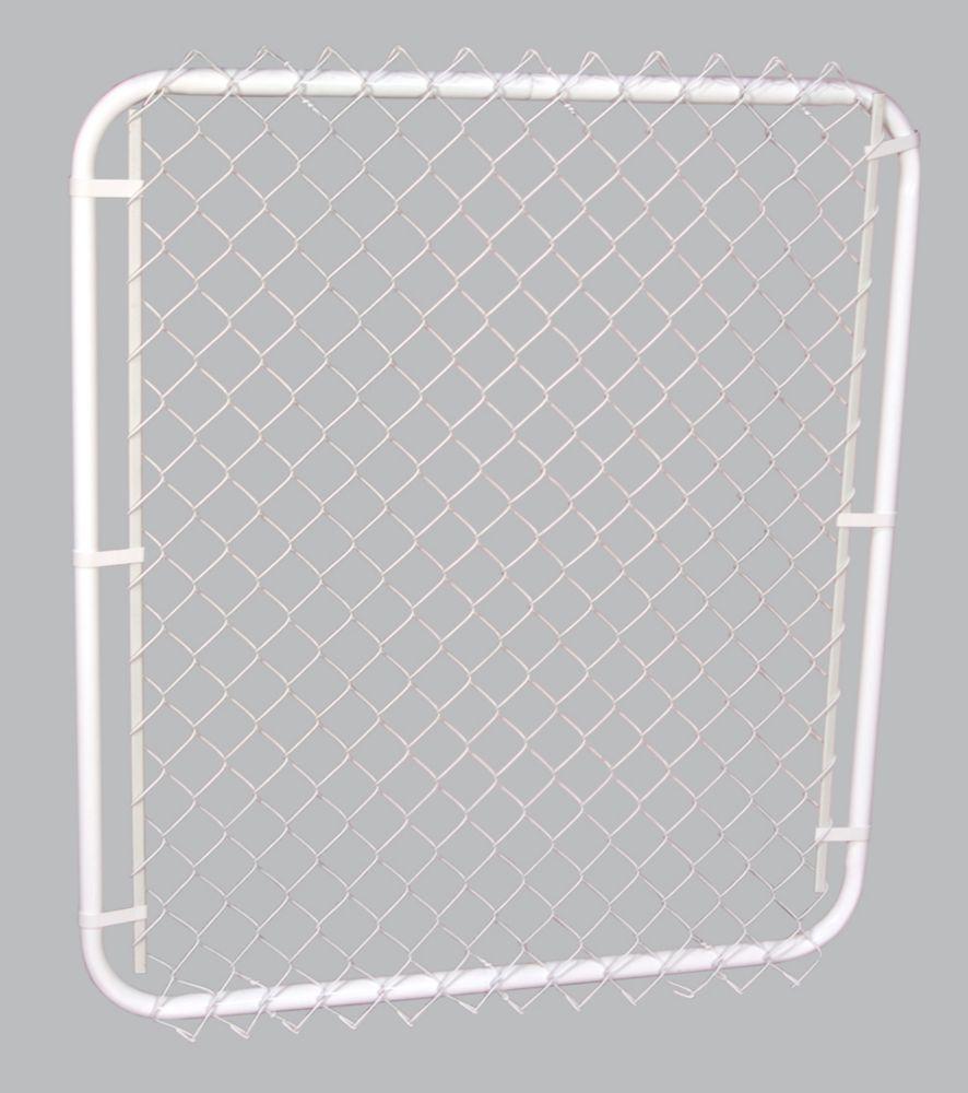 Cadre de Barrière White avec Maille Losangé Blanc 2 pi 42 pix48 pi