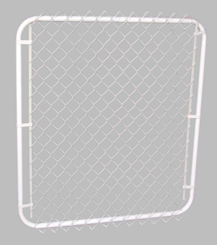White Frame White Fill 2 inch Gate 42 inchX48 inch
