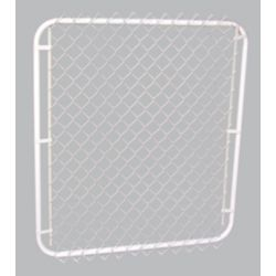 """Master Halco 42""""op x 48""""h White Gate with 2"""" White Chain Link"""
