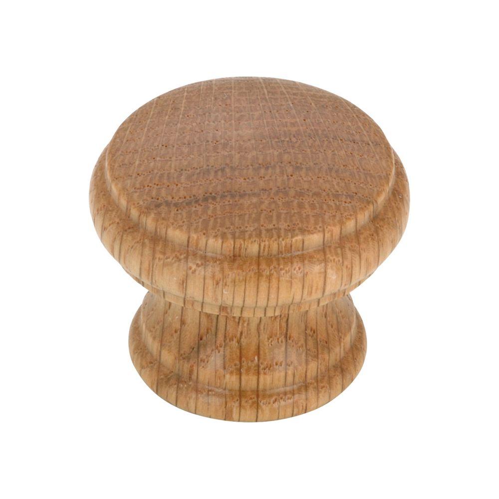 Eclectic Wood Knob - Oak, Natural Finish - 35 mm Dia.