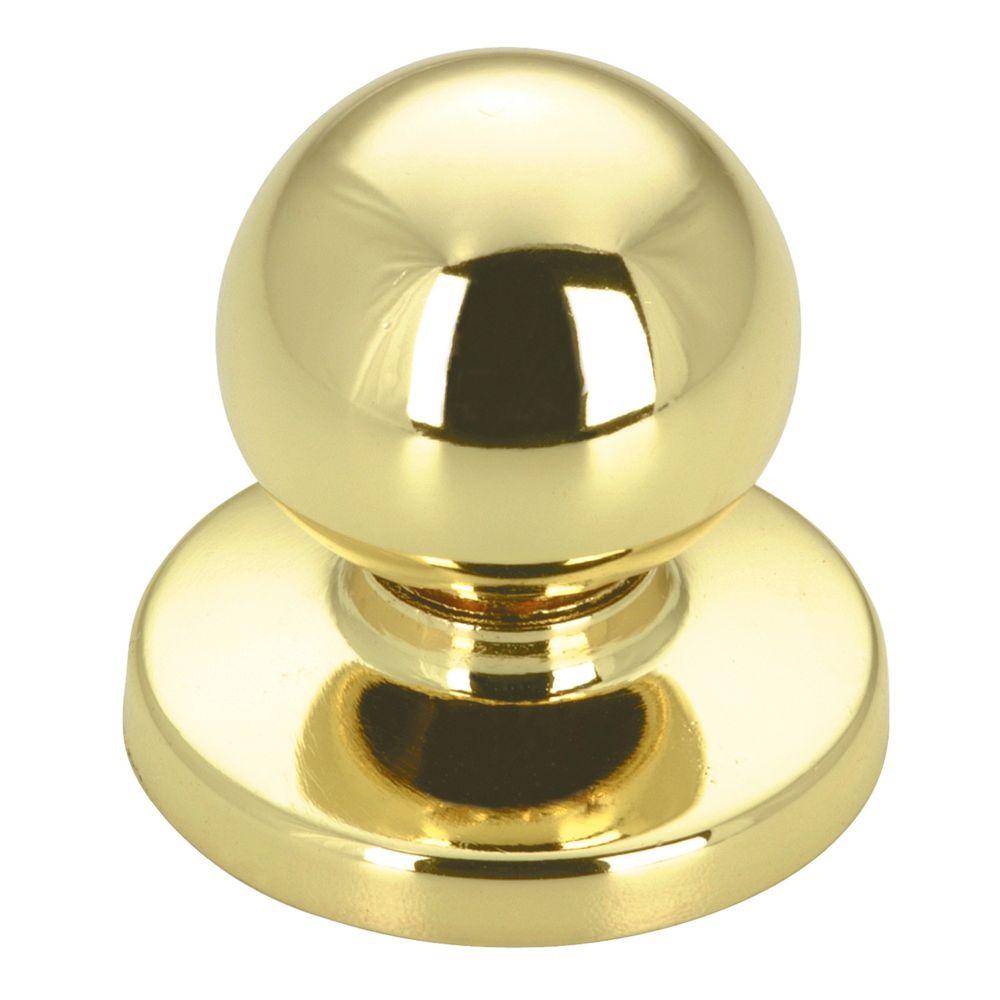 Classic Metal Knob - Brass - 32 mm Dia.
