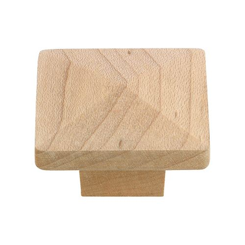 Richelieu Bourgogne Collection 1 1/4-inch (32 mm) x 1 1/4-inch (32 mm) Unfinished Maple Eclectic Cabinet Knob