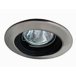 Eurofase Mini Luminaires cylindriques à encastrer, Bas Voltage, Satiné en nickel garniture et déflecteur noir
