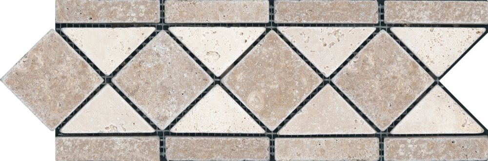 4-Inch x 12-Inch Noce Border Tile