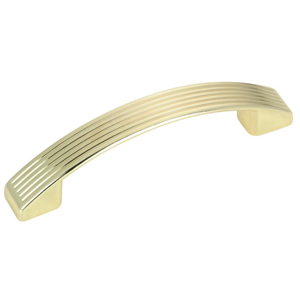 Contemporary Metal Pull - Brass - 96 mm C. to C.