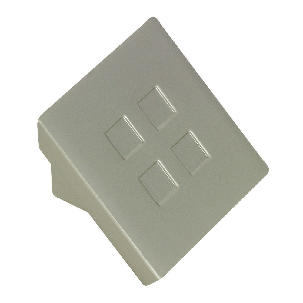 Contemporary Metal Knob - Brushed Nickel - 16 mm Dia.