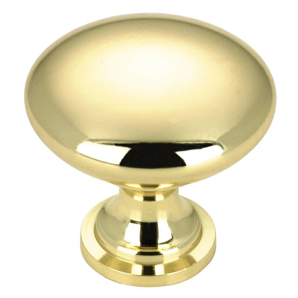 Contemporary Metal Knob - Brass - 30 mm Dia.