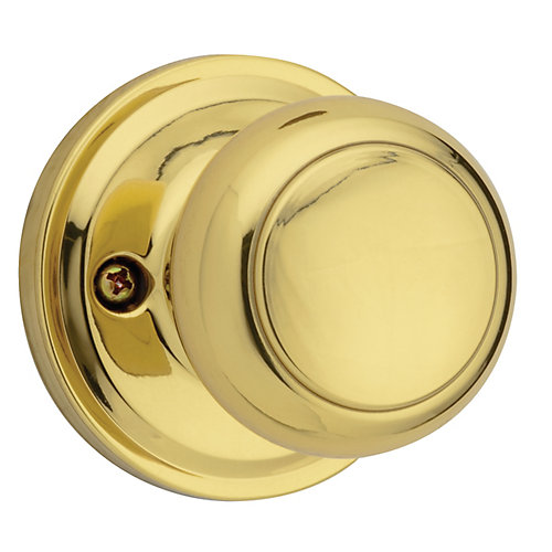 Troy single dummy knob - brass finish