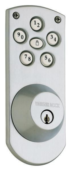 Electronic Lever Lock Antique Brass 13 95542 In Canada