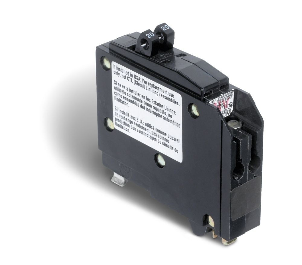 Schneider Electric Square D Single Pole 20 Amp Qo Tandem Circuit Breaker What Should Be Used A Gfci Or Is 15 The Home Depot Canada