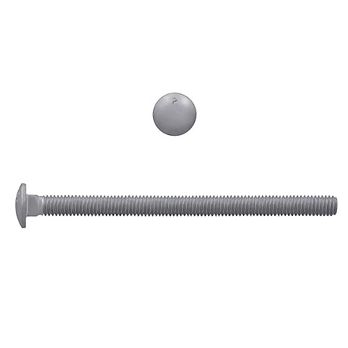 5/16-inch x 5-inch Carriage Bolt - Hot Dipped Galvanized - UNC