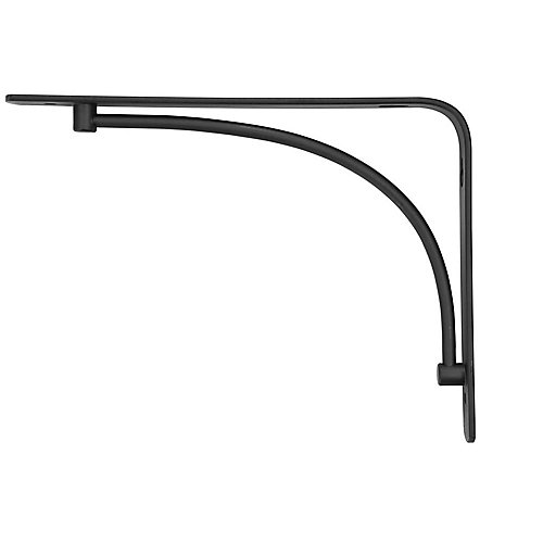 8-inch Arch Bracket in Black