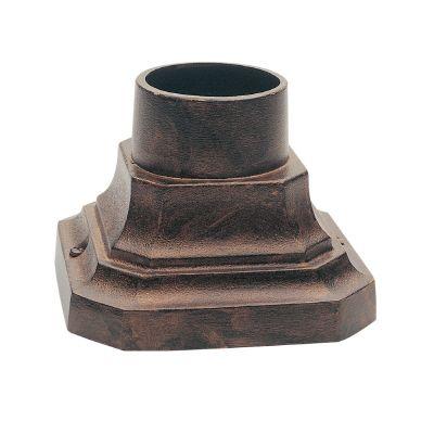 Base piédestal, cuivre antique