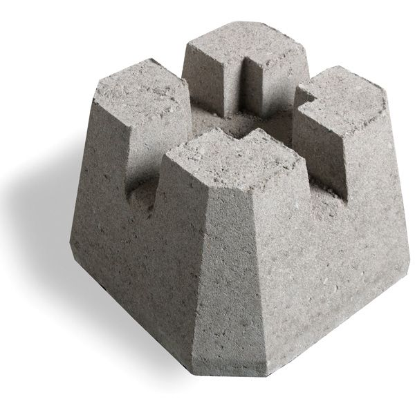 Concrete Deck Blocks Home Depot : Shaw brick deck block inch the home depot