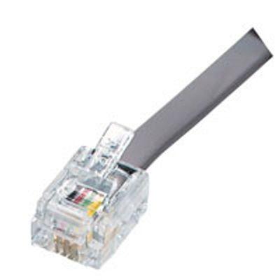 Fiche modulaire de télécommunication, 6 positions, 4 bornes contact, paquet de 25
