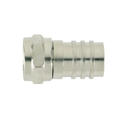 Cable TV Crimp On F-Connector for RG6 Quad Coax Cable