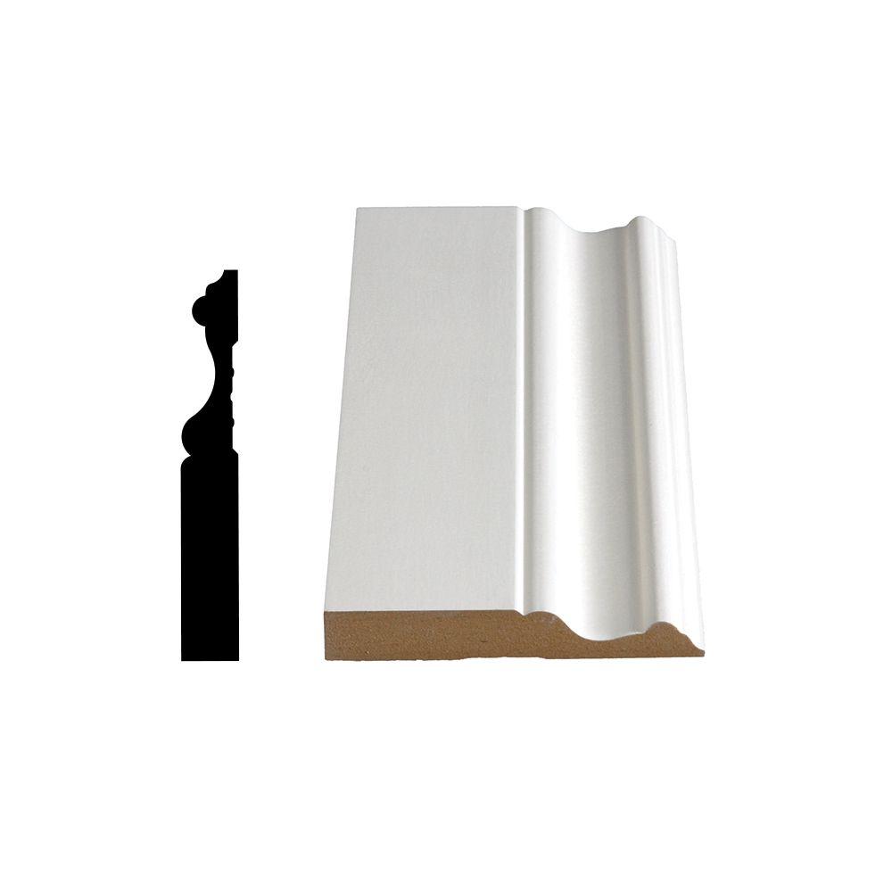 Primed Fibreboard Base 5/8 In. x 4 In. (Price per linear foot)