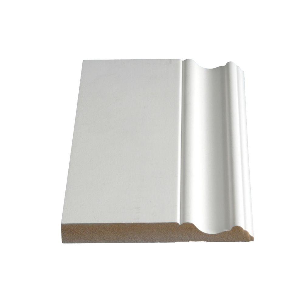 Primed Fibreboard Base 5/8 In. x 5 In. (Price per linear foot)