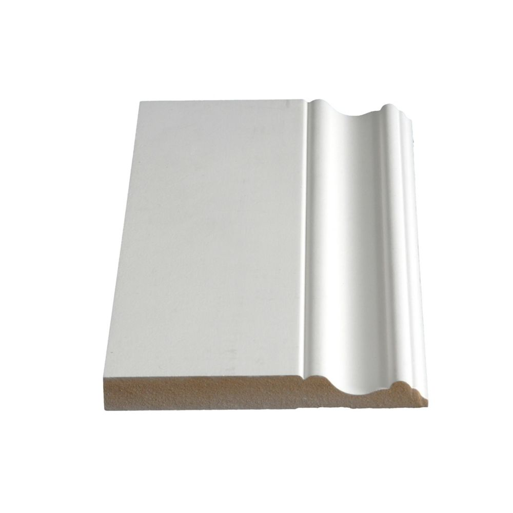 Primed Fibreboard Base 5/8 In. x 5 In. (Price per linear foot)