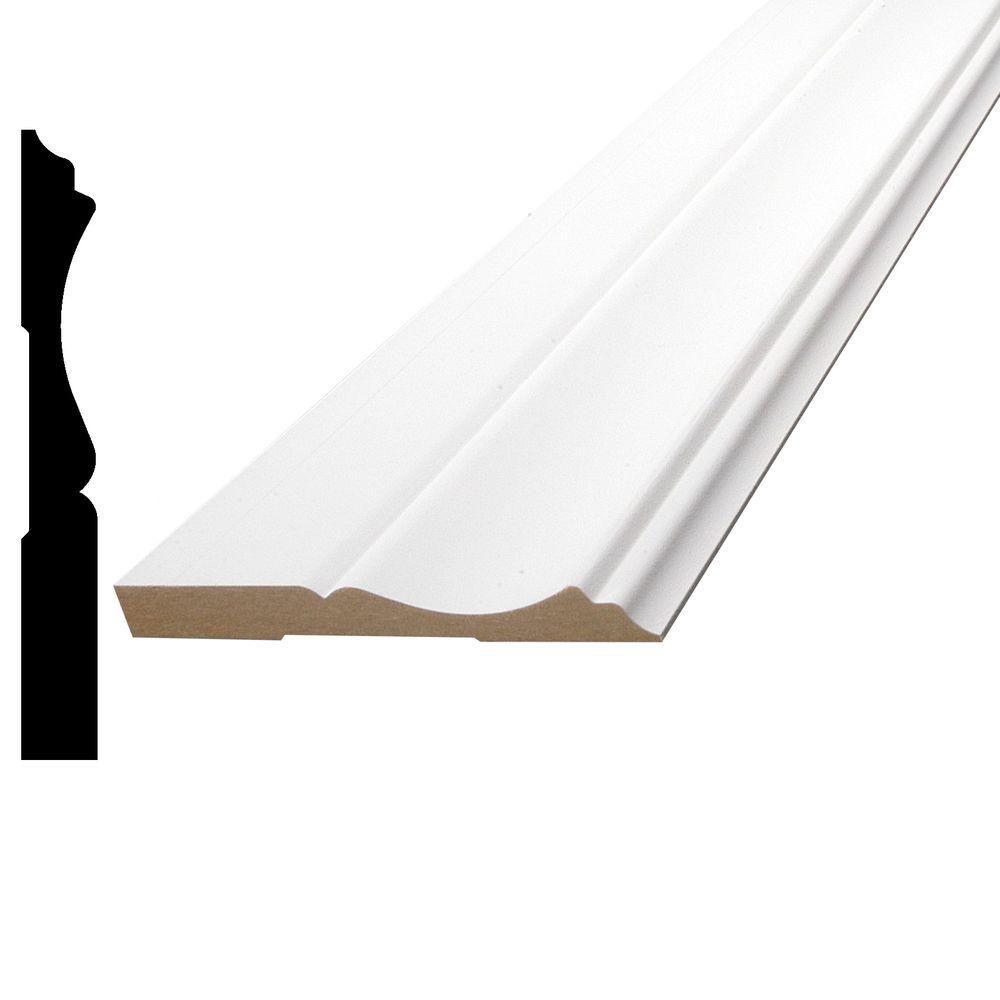 Primed Fibreboard Colonial Base 3/8 In. x 3-1/4 In. (Price per linear foot)
