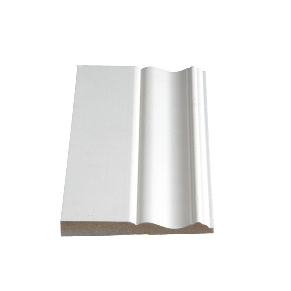 Plinthe apprêtée en MDF - 1/2 x 4 1/4 (Prix par pied)