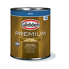 Premium Exterior Paint + Primer Satin White 925 mL