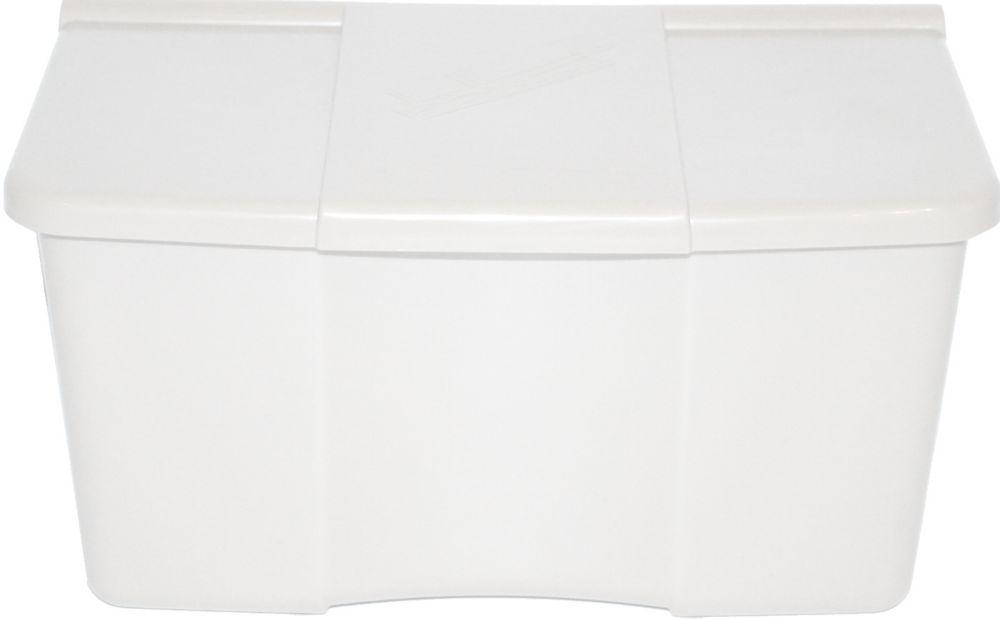 PLASTIC CLOTHESPIN BOX WHITE