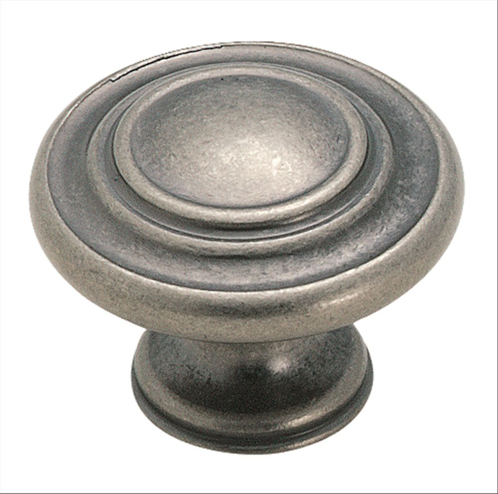 Amerock Inspirations 1-5/16-inch (33mm) DIA Knob - Weathered Nickel