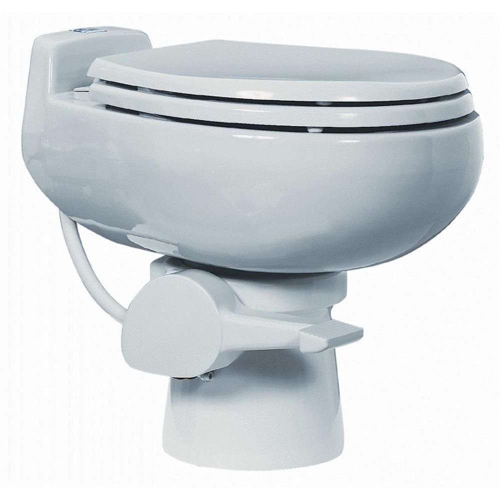 510+ 1 Pint Non-electric Composting Toilet in White