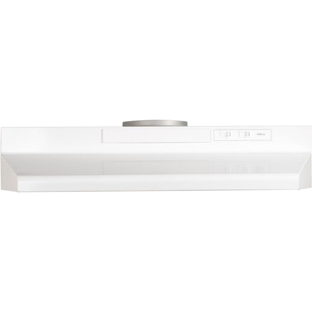 30-inch, 180 CFM Convertible Under Cabinet Range Hood in White