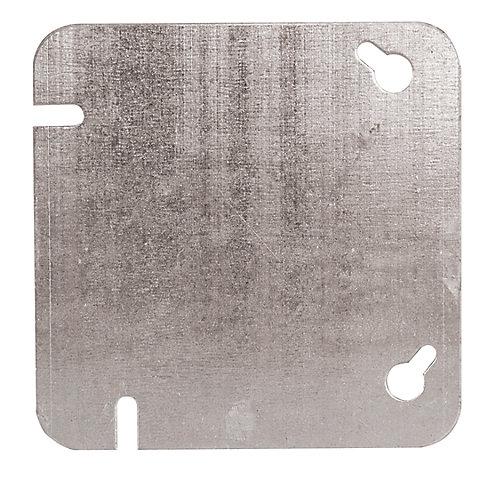 Couvercle plat vierge pour les boîtes carrées de 4 pouces