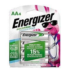Rechargeable AA Battery - 4 Pack