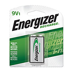 Rechargeable 9-Volt Battery - 1 Pack