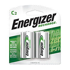 Rechargeable C Battery - 2 Pack