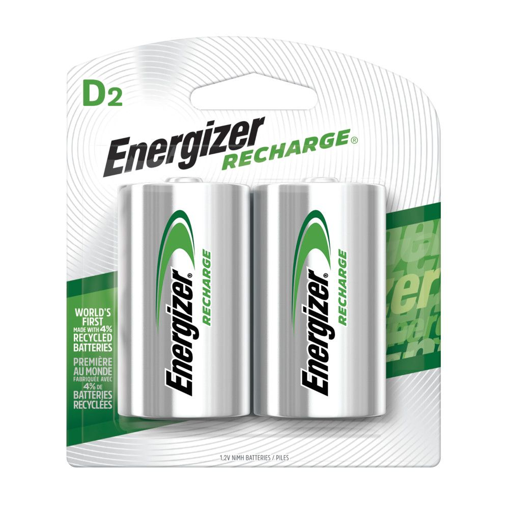 Rechargeable D Battery - 2 Pack