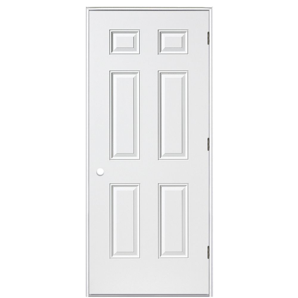 32-inch x 4 9/16-inch Primary 6 Panel Right Hand Outswing Door